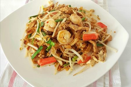 Penang Fried rice noodles, commonly found in the hawker stalls,