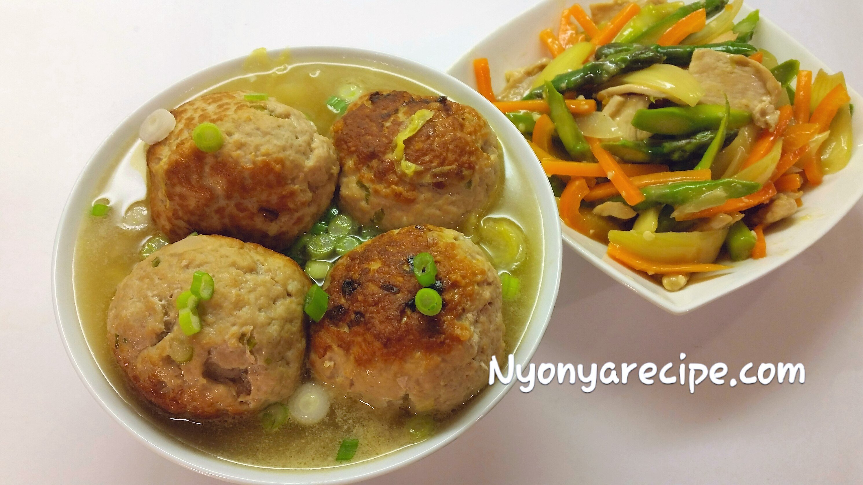vegetable, pork balls,