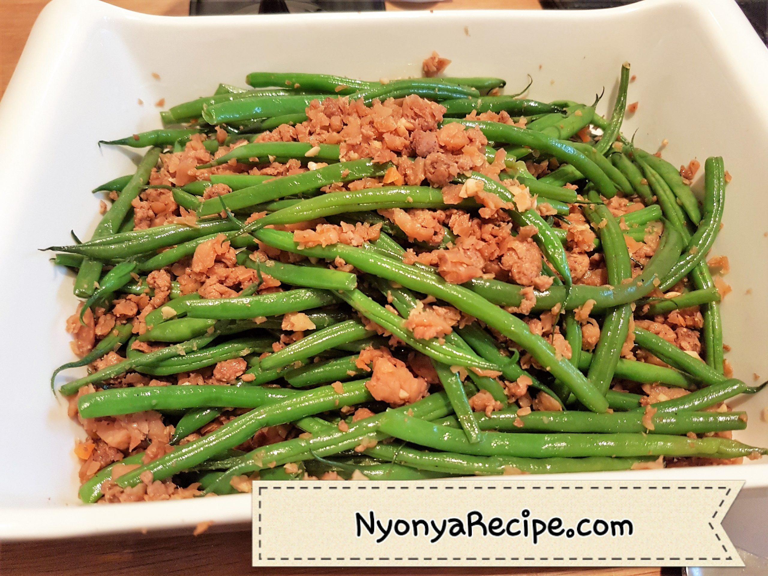 lean, easy, beans, vegetarian, vegan, chai poh, preserved radish,