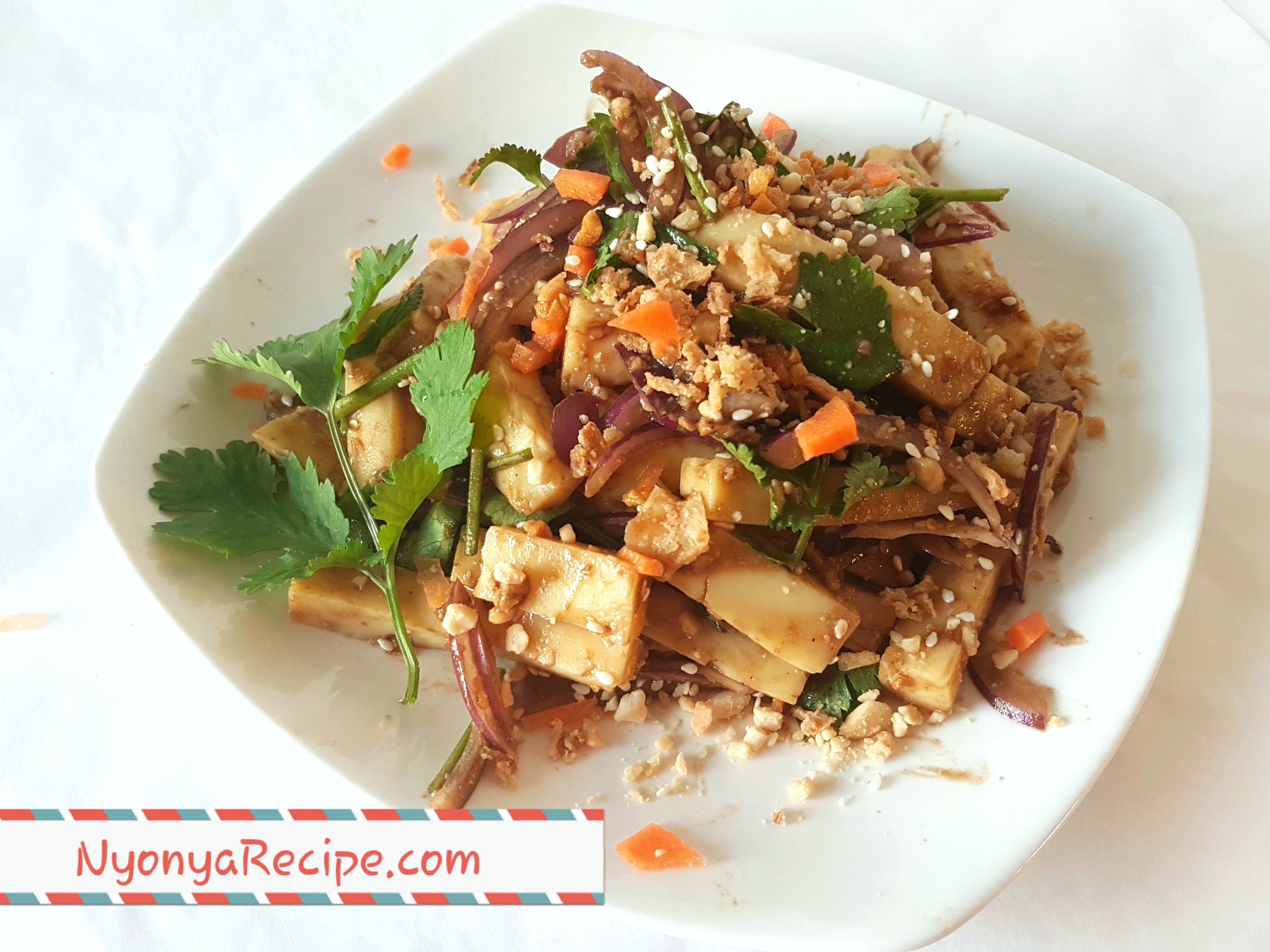 Shan tofu, salad,