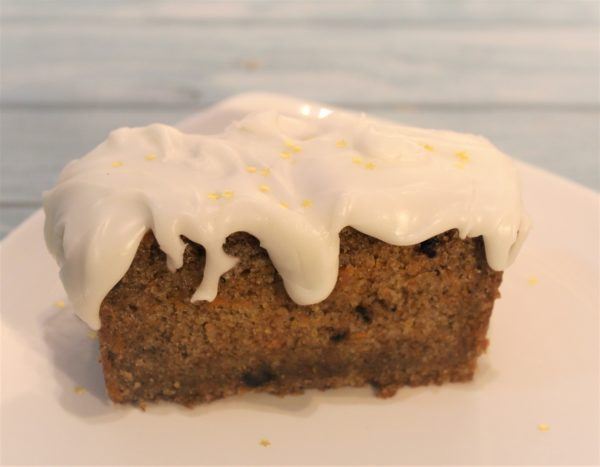 Carrot Cake with a kick with icing on top