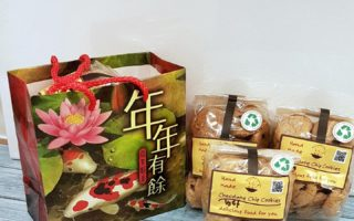 3 bags of cookies in a bag for Chinese New Year