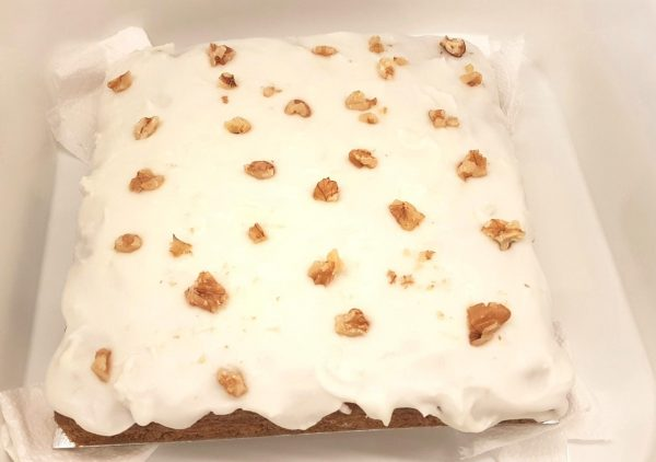 Carrot Cake with a kick in 20 cm tin