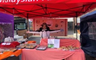 Loretta at Nyonya Recipe Gazebo in Leicester City.