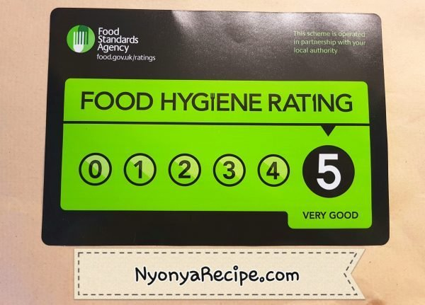 Food hygiene rating 5, very good.