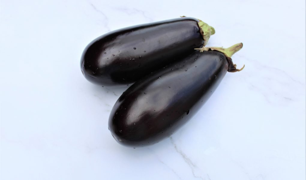 2 Purple Aubergine or egg plant