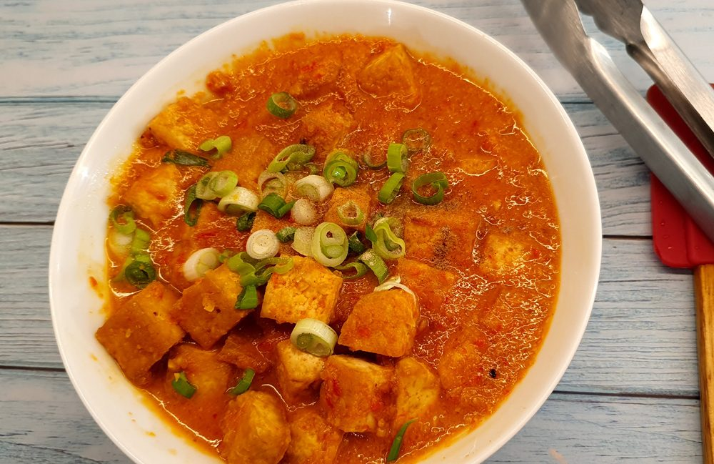 vegan peanut tofu sambal